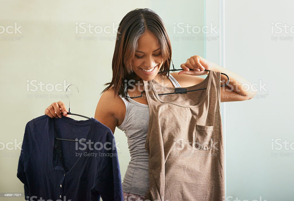 I just cannot decide! stock photo