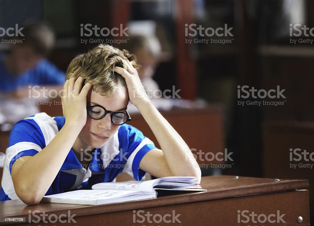 I just can't get this right! - Learning disabilities royalty-free stock photo