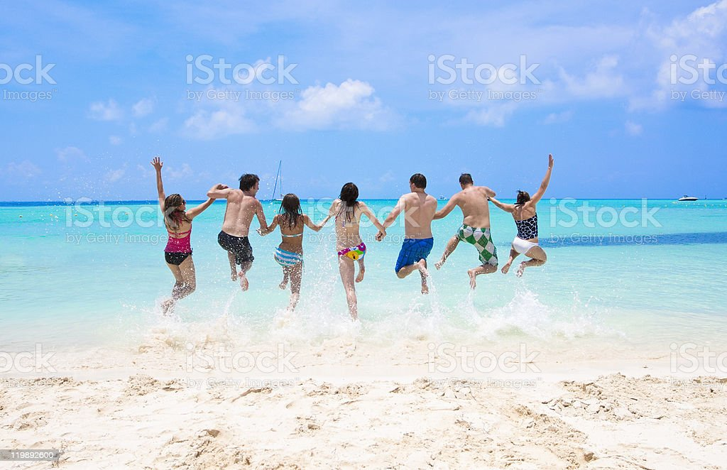 Just can't wait to jump right in royalty-free stock photo