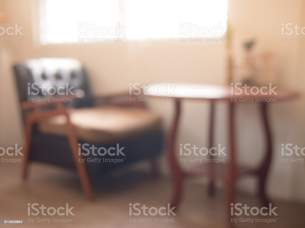 Just chairs, empty frames and tables stock photo