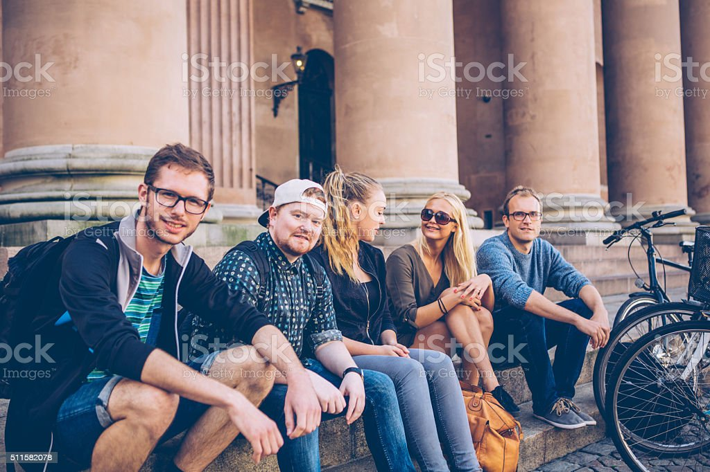 Just chilling together stock photo