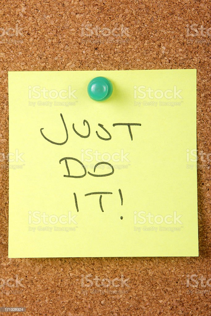 Just Do It royalty-free stock photo