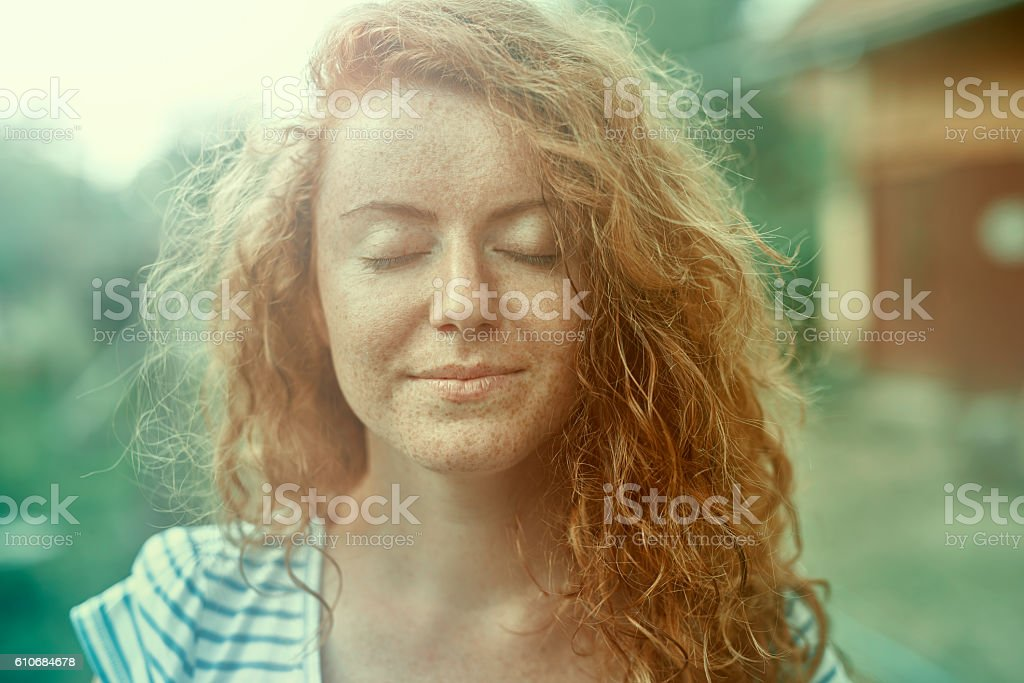 just feel the relaxation stock photo