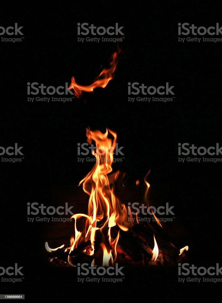 Just fire stock photo