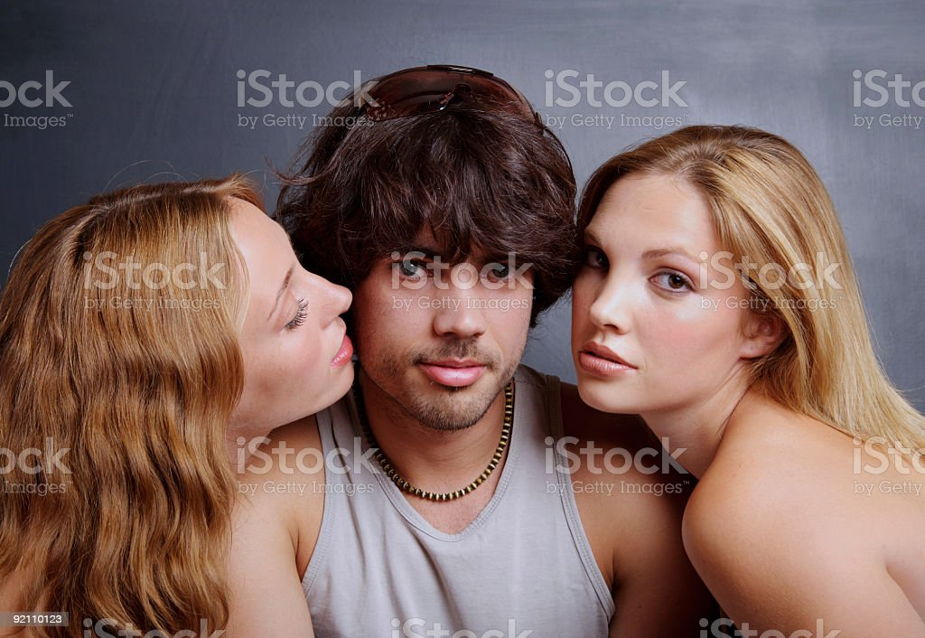 Just friends... stock photo