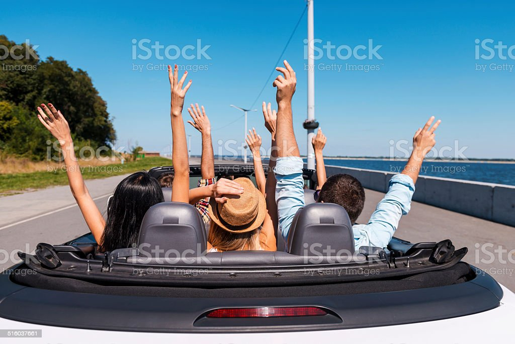 Just fun and road ahead. stock photo
