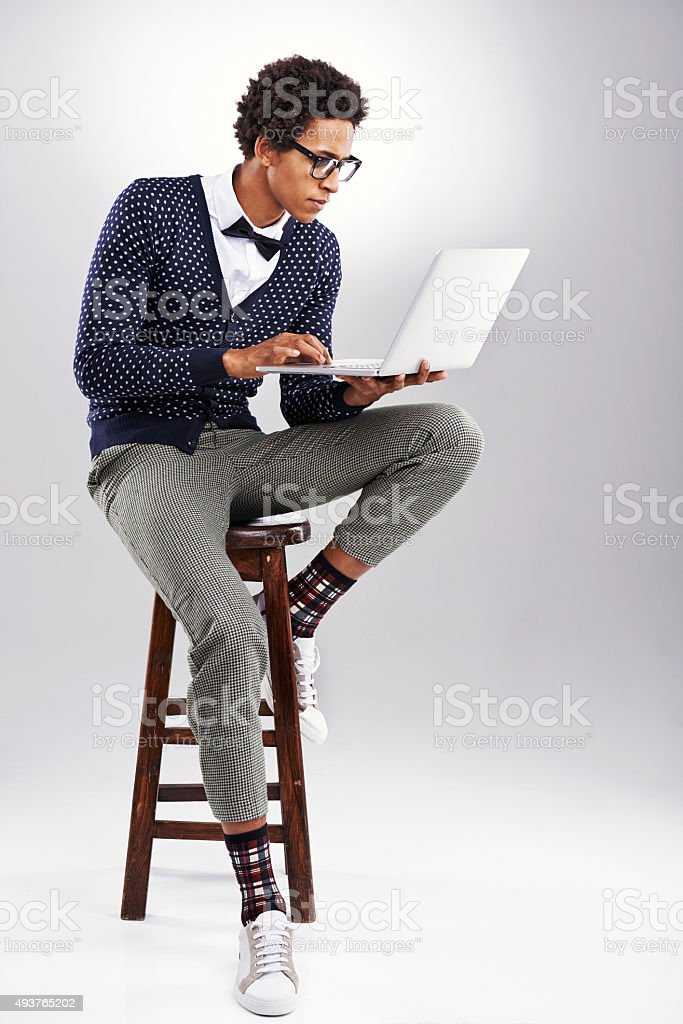 Just getting into this blogging thing stock photo