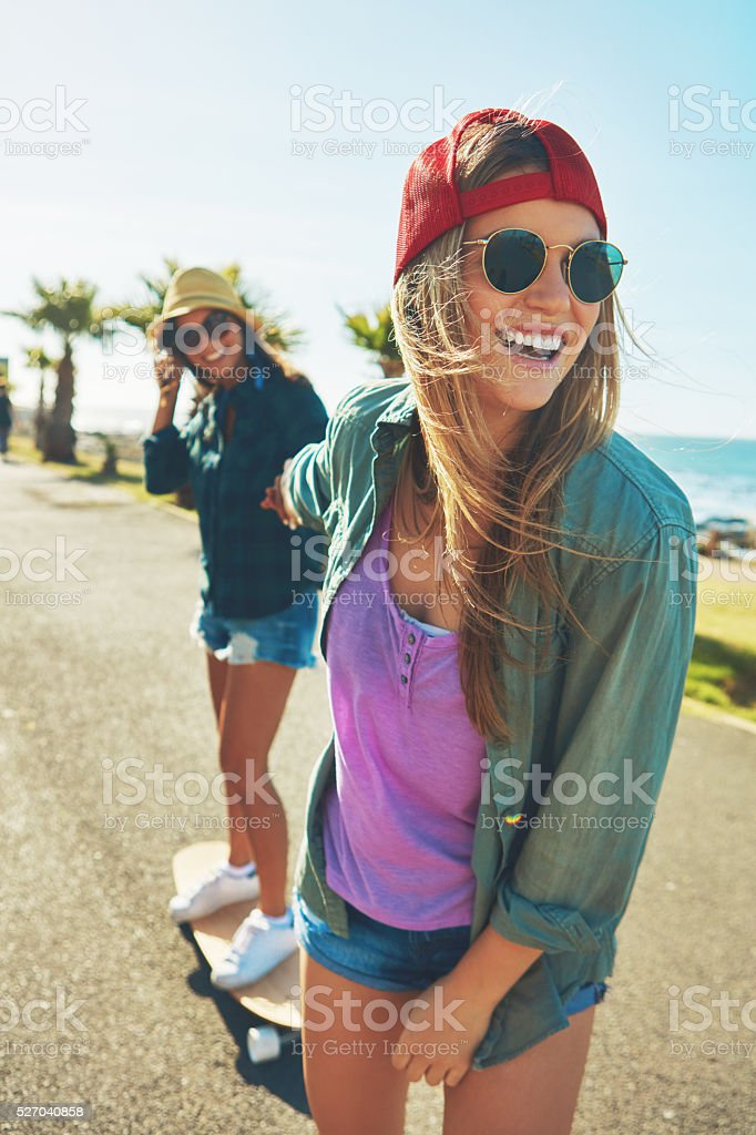 Just giving my friend a lift! stock photo