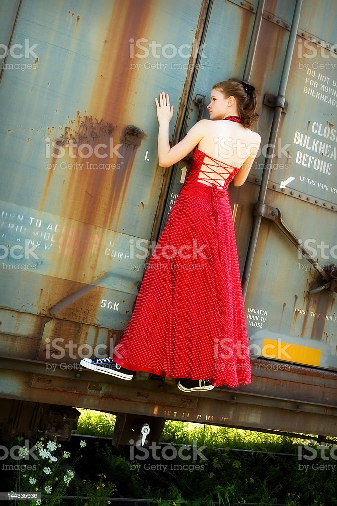 Just Hanging On royalty-free stock photo