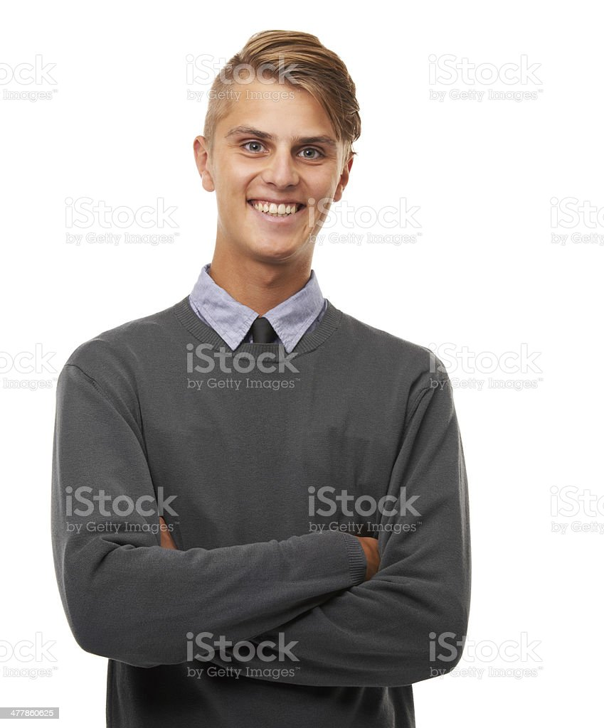 Just happy to be me royalty-free stock photo