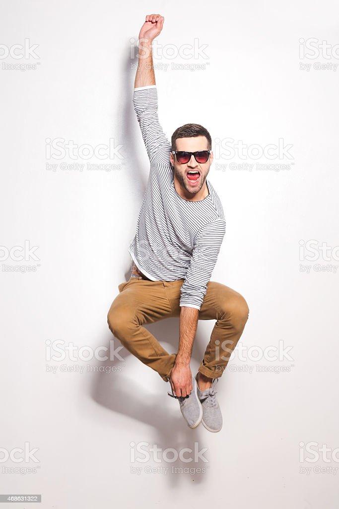 Just having fun. stock photo