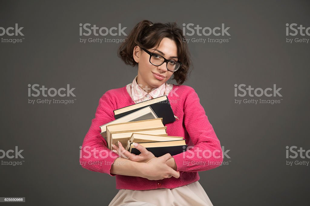 Just in love with reading stock photo