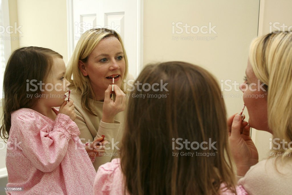 Just Like Mommy royalty-free stock photo