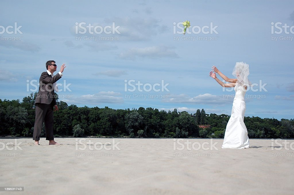 just married 1 royalty-free stock photo