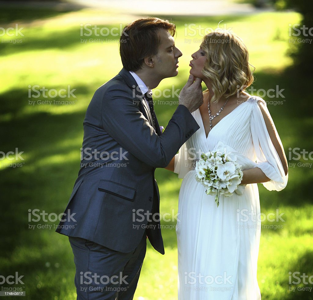 Just married couple. royalty-free stock photo