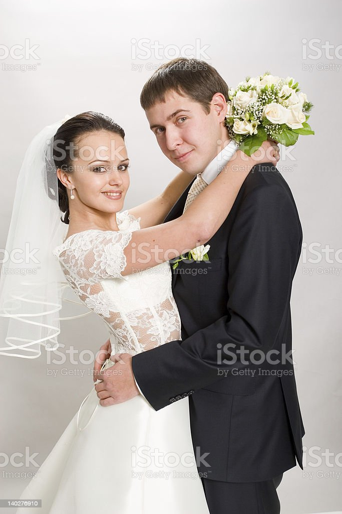 Just married. royalty-free stock photo
