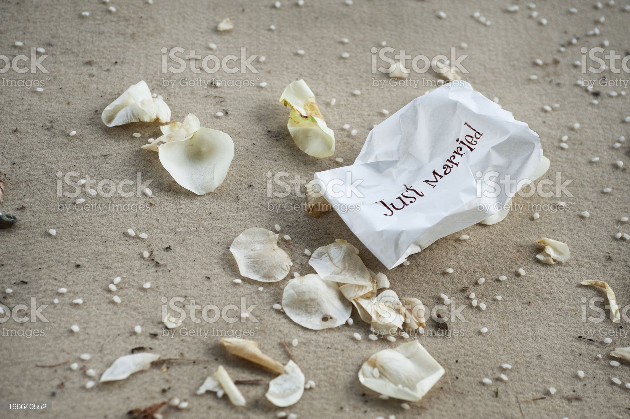 just married royalty-free stock photo
