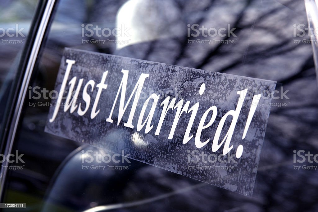 Just Married! royalty-free stock photo