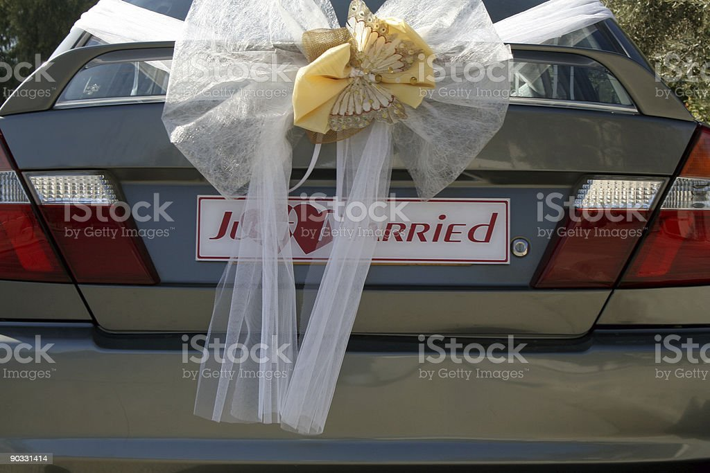 Just married ! royalty-free stock photo