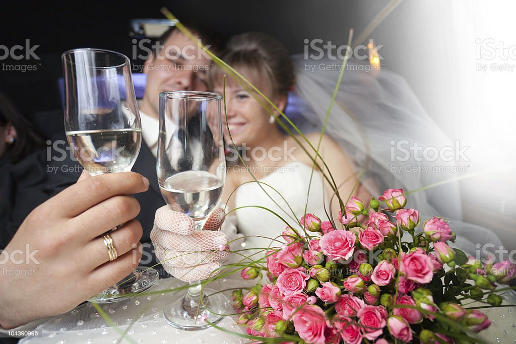 Just married young couple stock photo