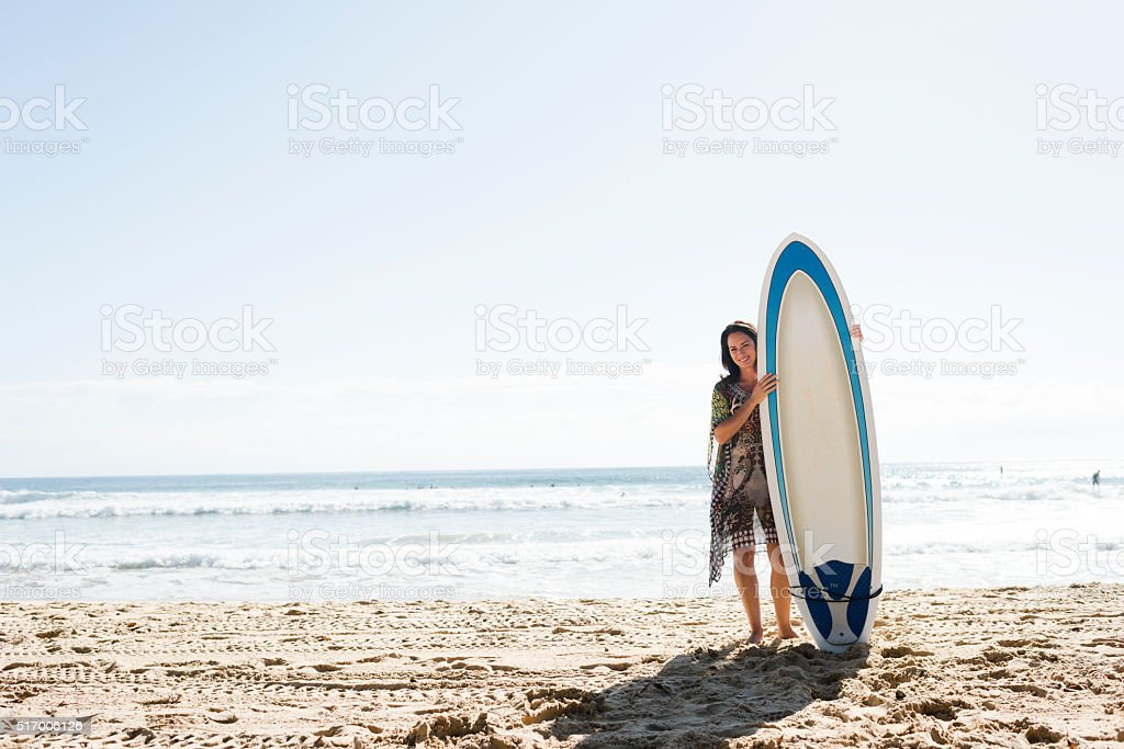 Just Me & My Surfboard stock photo