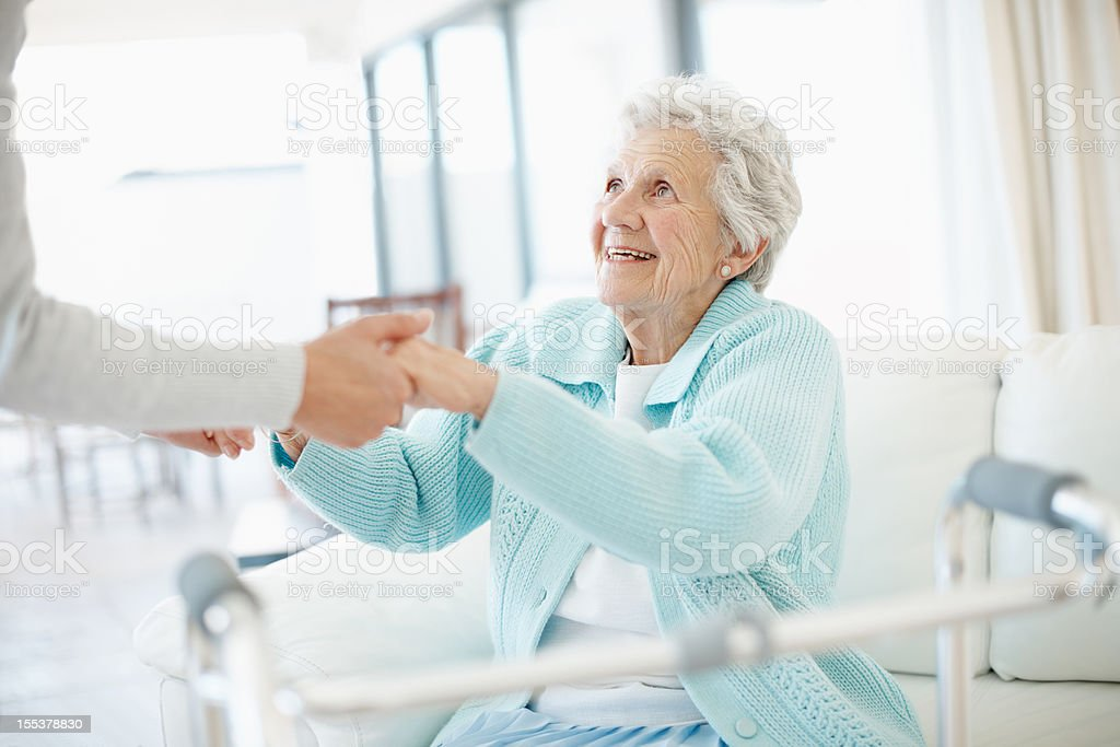 I just need a little help - Senior Care royalty-free stock photo