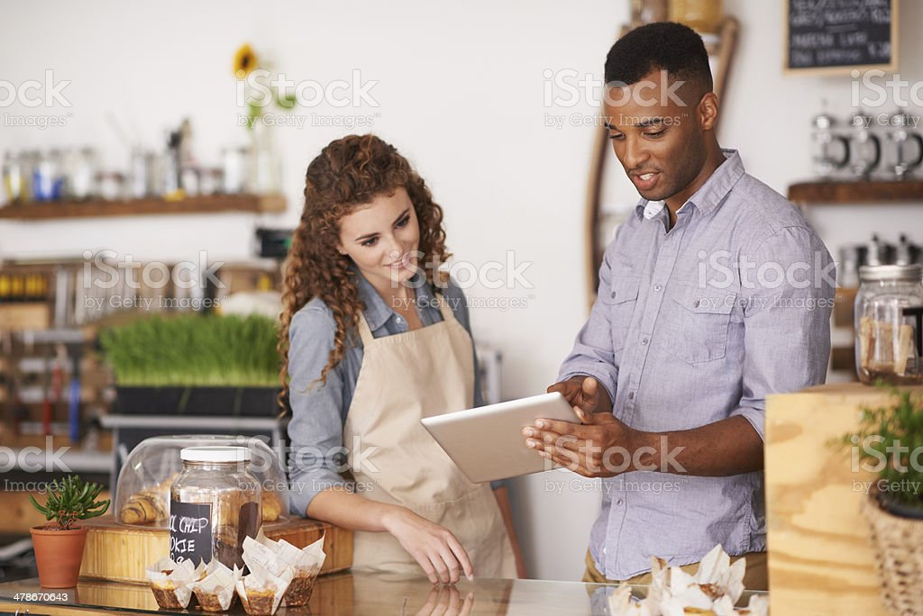 Just one click away from completing the order stock photo