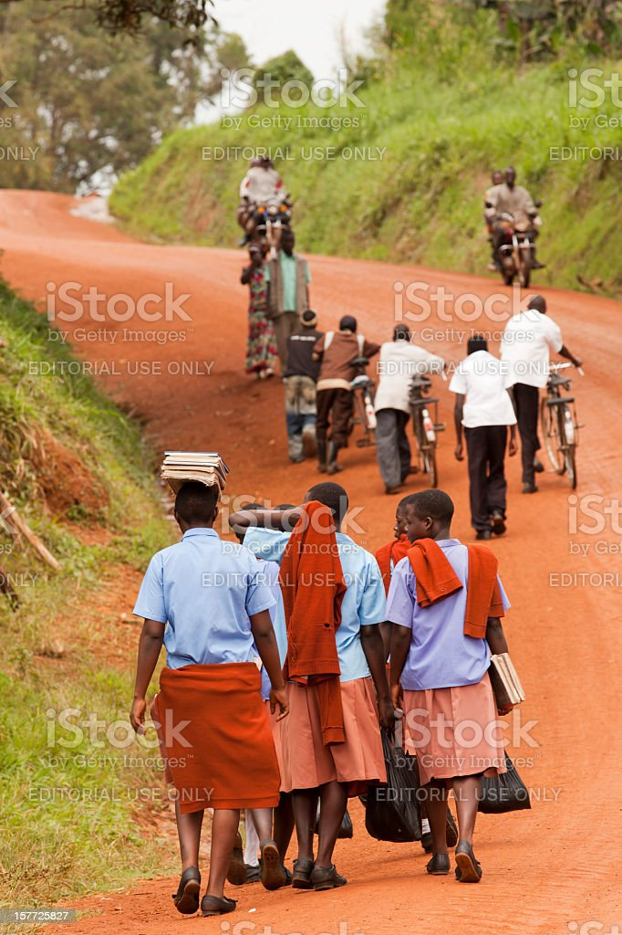 Just one image from Africa Road royalty-free stock photo
