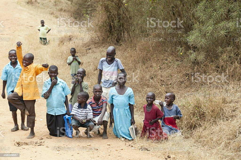 Just one image from Africa Road stock photo
