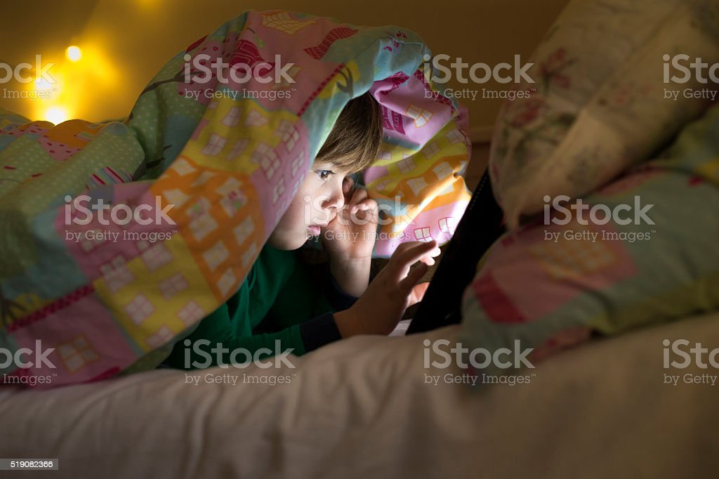 Just one more game before I go to sleep stock photo
