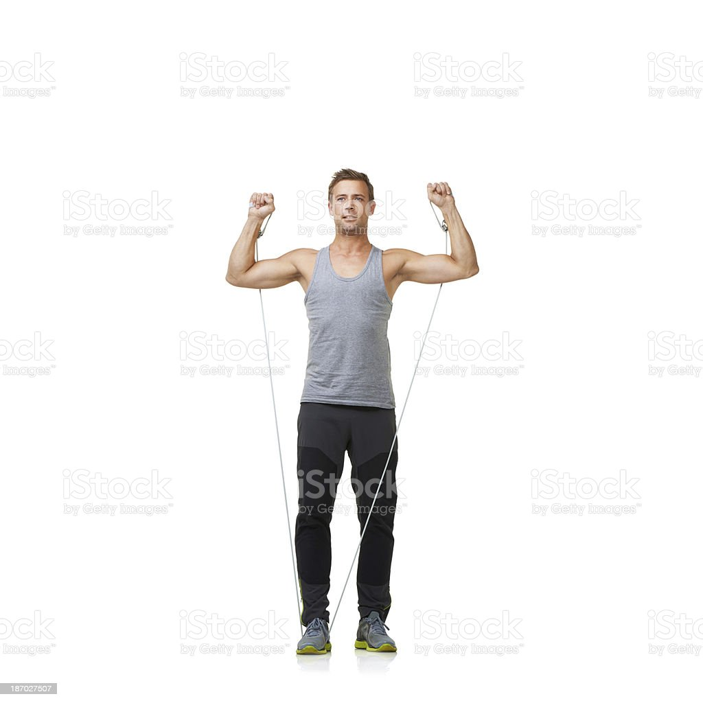 Just one more rep! royalty-free stock photo