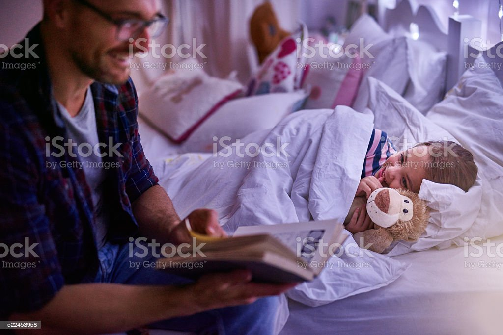 Just one more story daddy stock photo