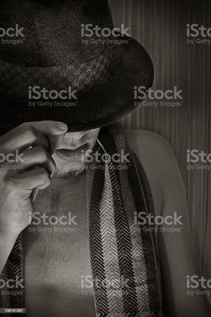 'just one more thing until I leave...' - Sepia stock photo