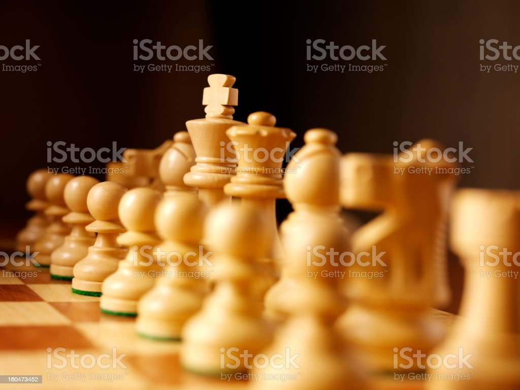 Just One Side of Chess royalty-free stock photo
