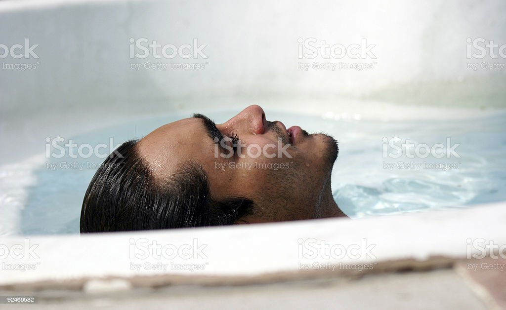 Just relaxing in the pool royalty-free stock photo