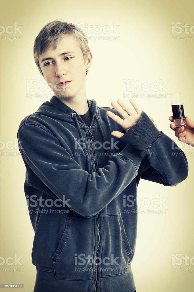 Just Say No - Alcohol royalty-free stock photo