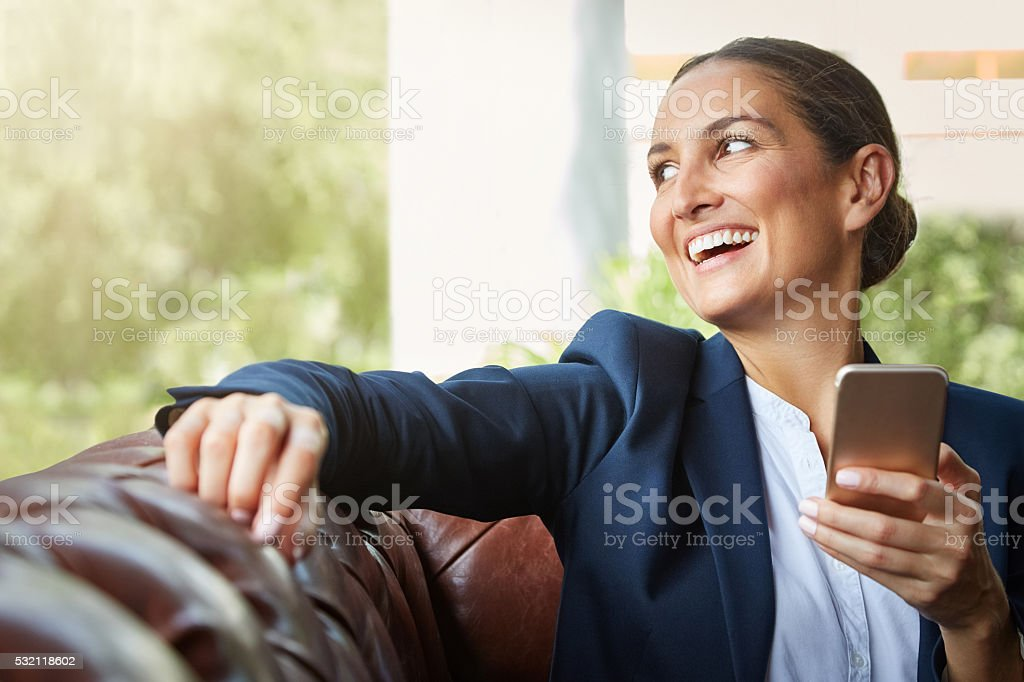 Just sealed another deal stock photo