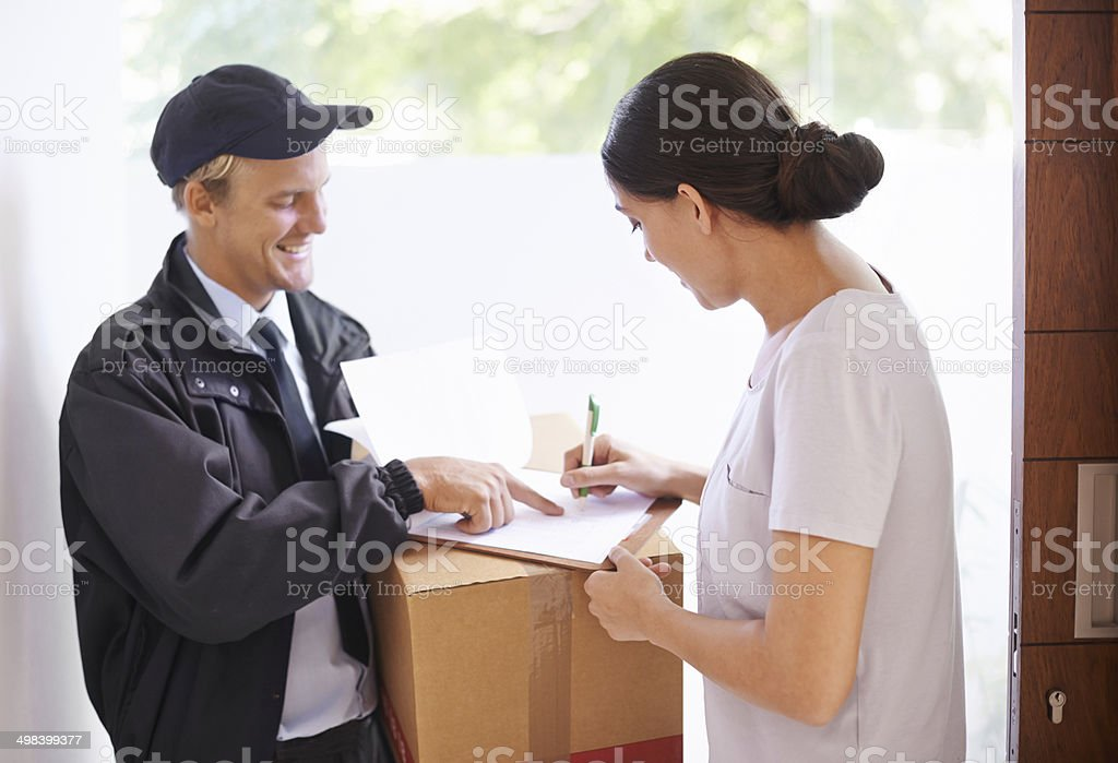 Just sign over there please... stock photo