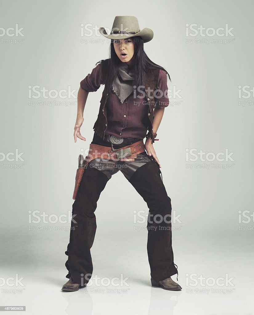 Just so you know...I got me an itchy trigger finger... royalty-free stock photo