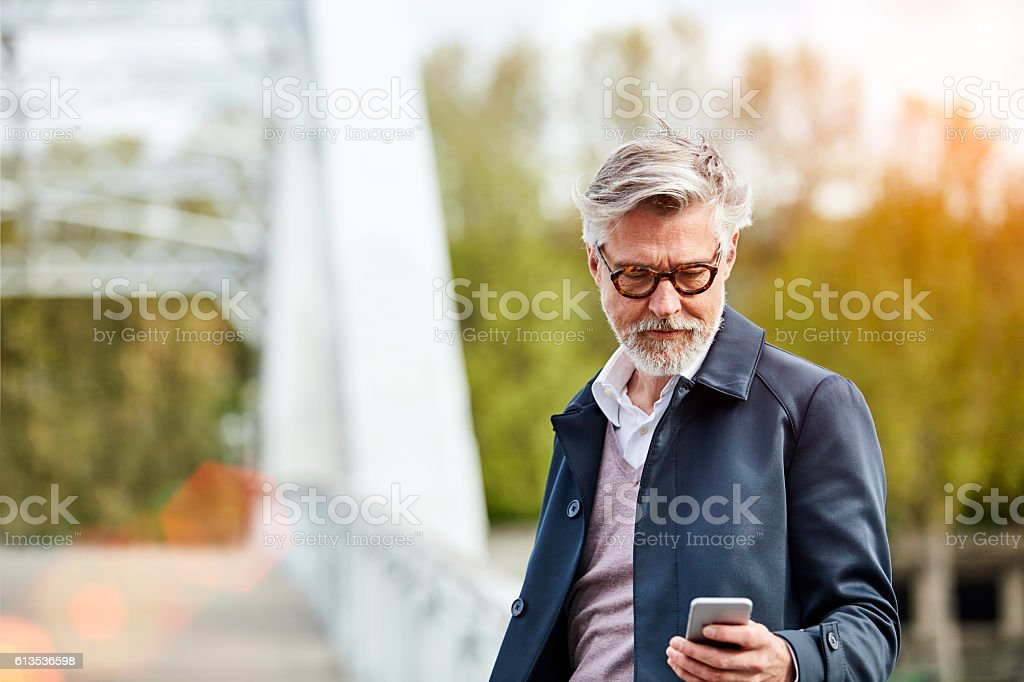 Just that text he was waiting for stock photo