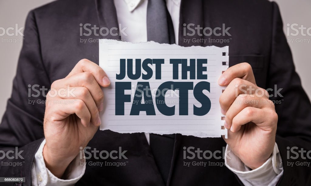 Just the Facts stock photo