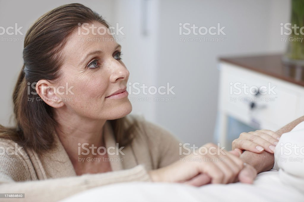 Just the friendly face you'd want in a hospital royalty-free stock photo