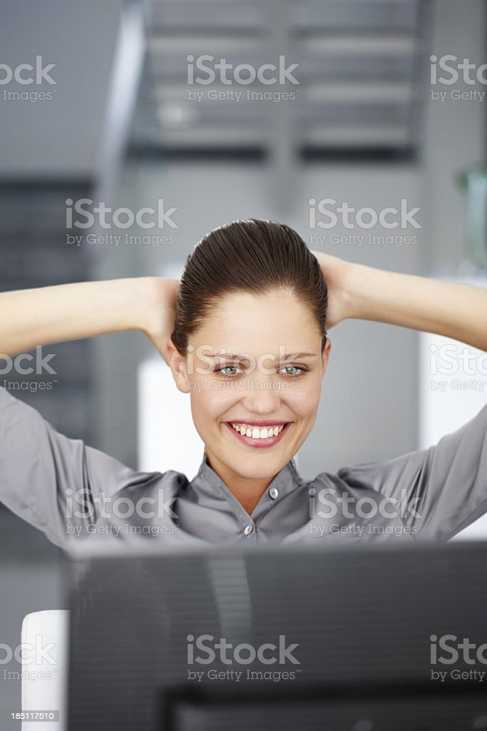 Just the results I worked for royalty-free stock photo