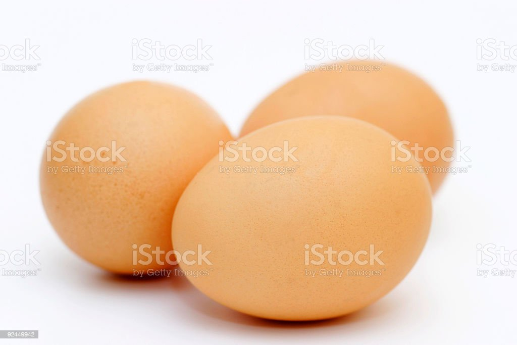Just Three Eggs stock photo