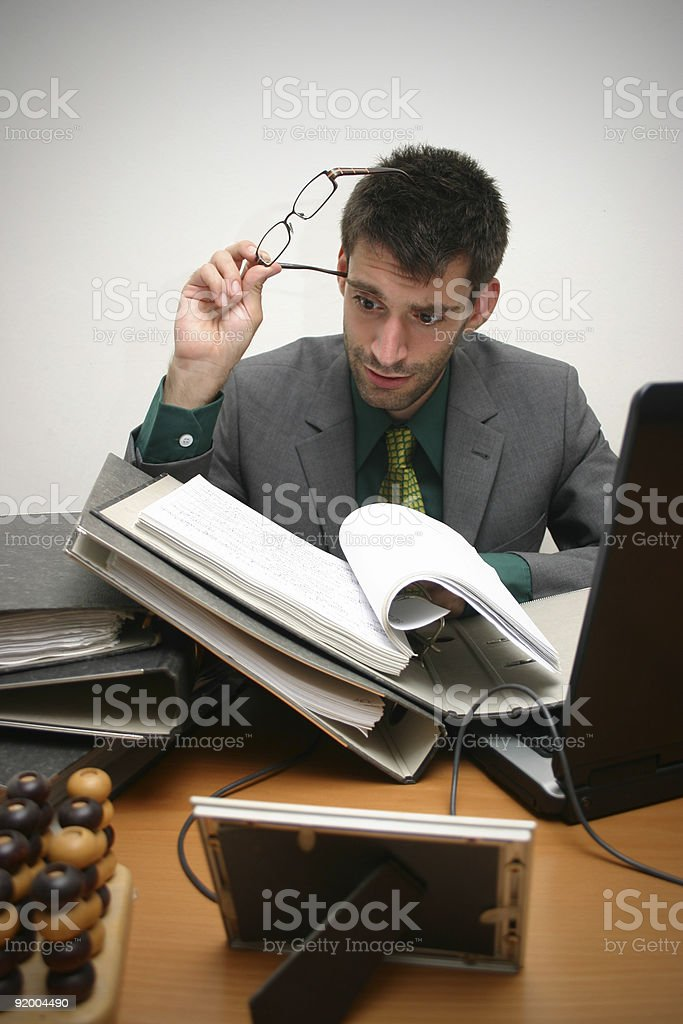 just too much work stock photo