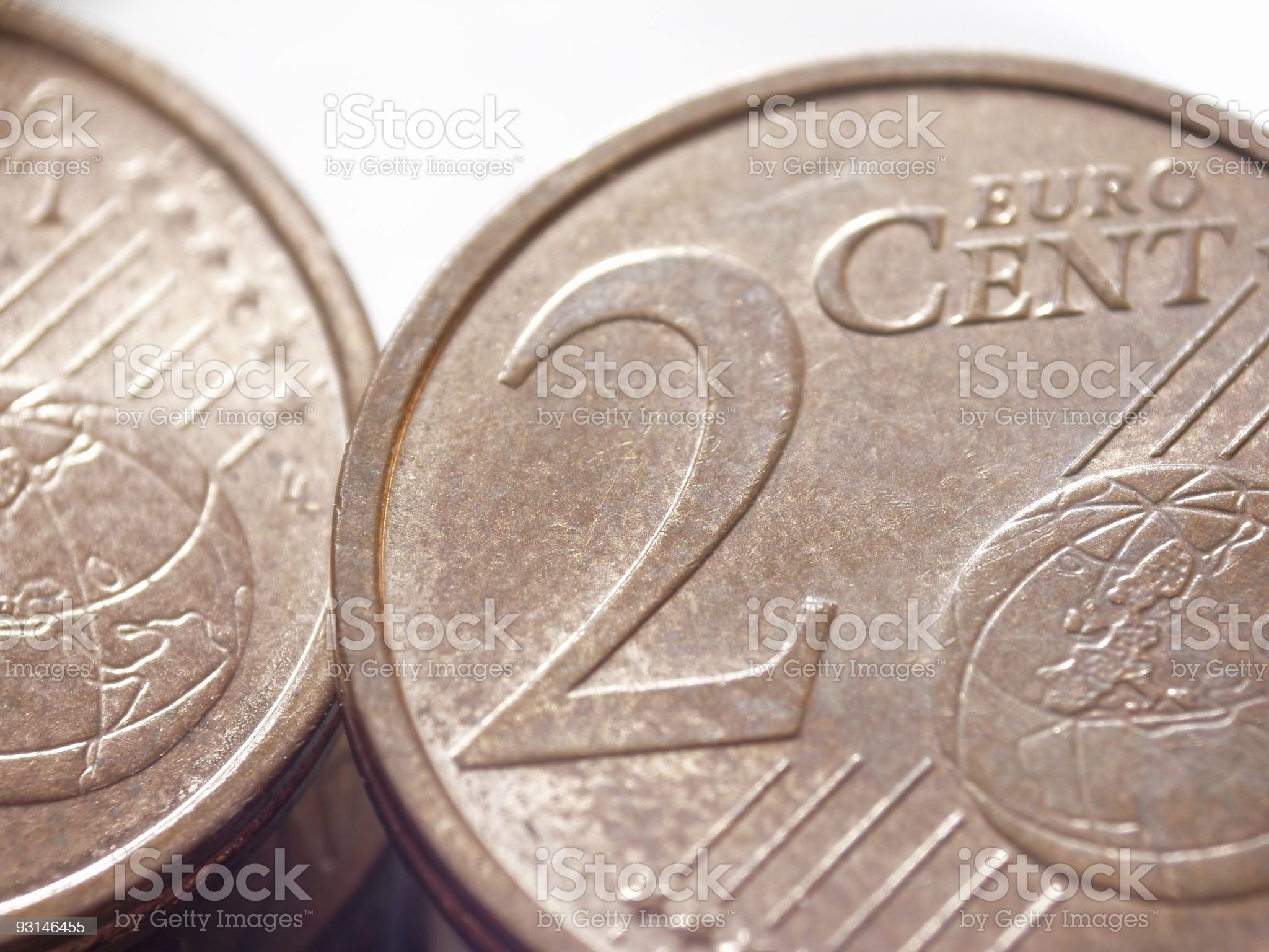 Just two euro cents royalty-free stock photo