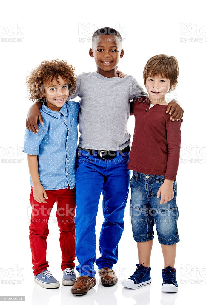 Just us boys stock photo