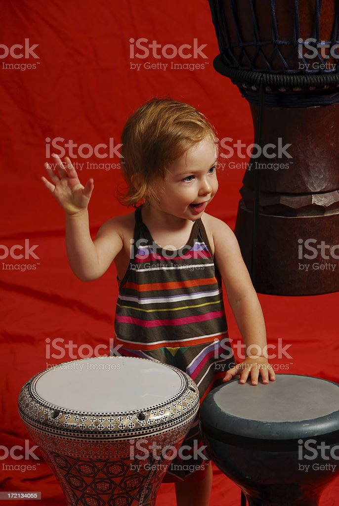 I just want to bang on the drum all day stock photo