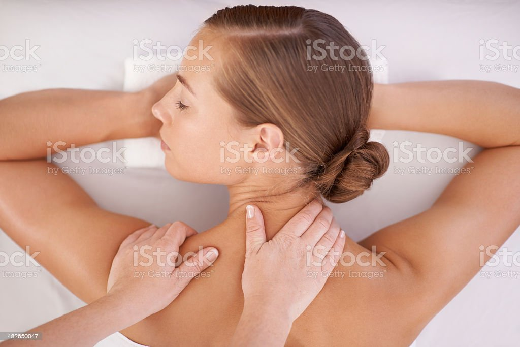 Just what she needed stock photo