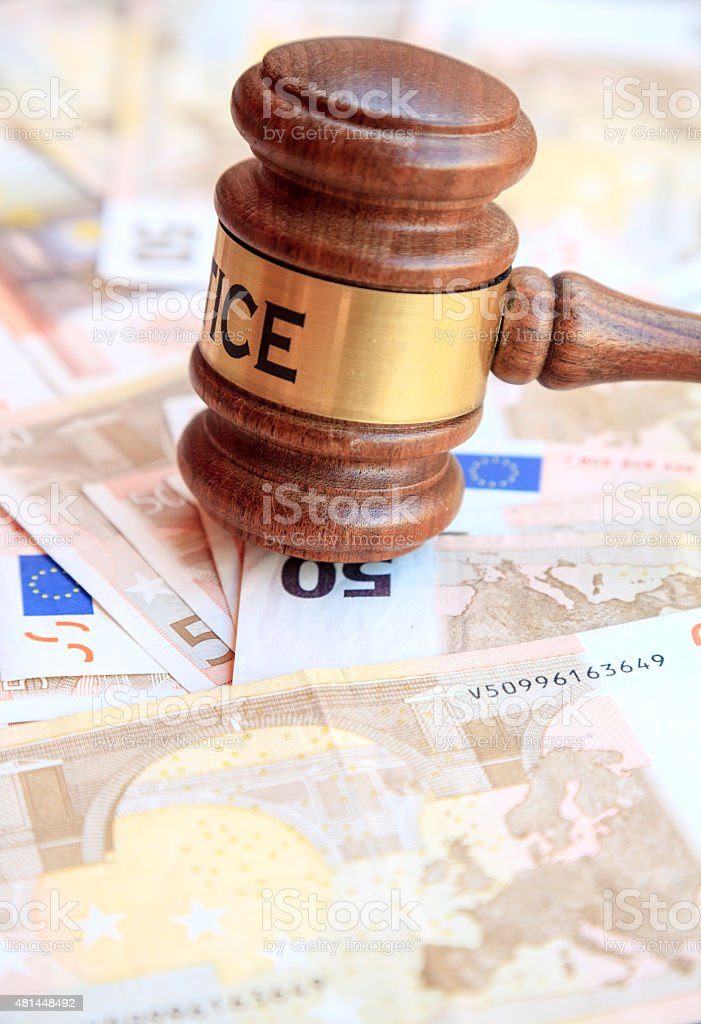 Justice and money, cocepot stock photo